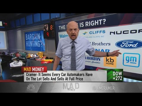 Jim Cramer gives his list of stocks that are still cheap with the market at record highs