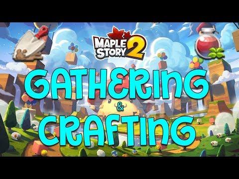MapleStory 2 Lifeskills - Beginner's Guide To Gathering/Crafting!
