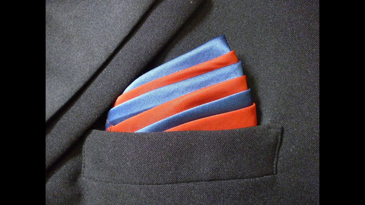 How to Fold a Pocket Square - Ice Cream Mountain