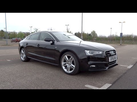 2016 Audi A5 Sportback 2.0 TDI 190 quattro S line Start-Up and Full Vehicle Tour
