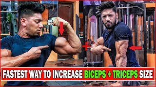Complete BICEPS + TRICEPS Workout (home/gym) | Beginners Arms Exercise