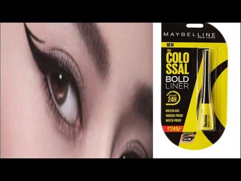 Maybelline Colossal Bold Black liner Review   Black Affordable Liner  