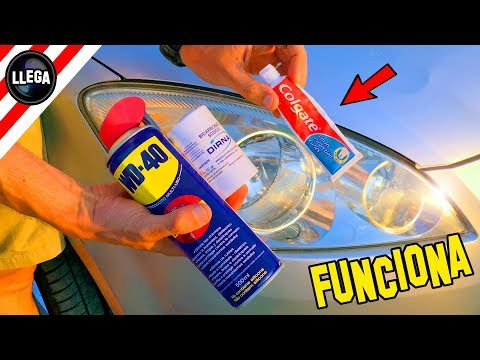 How To CLEAN and POLISH Your Plastic Headlights With COLGATE
