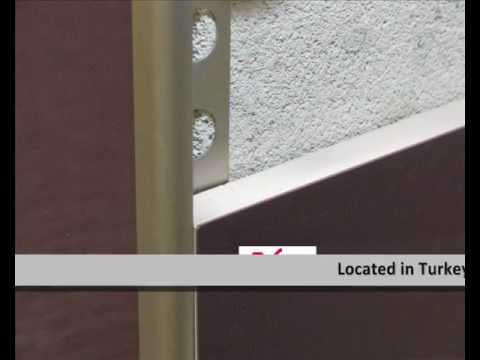 how to cut tile trim around a window