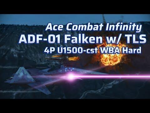 Ace Combat Infinity | Lv.11 ADF-01 | Lv.5 TLS | U1500 WBA Hard, 4P no bots S rank
