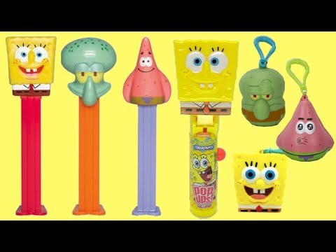 Spongebob Squarepants Pez + Radz & Lollipop Dispenser Unboxing!