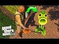 ENCONTRÉ A LA PLANTA CARNÍVORA !! (Plants vs Zombies) - GTA V [Secreto/Misterio/Mod]
