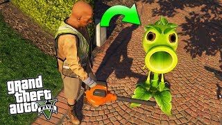 - ENCONTR A LA PLANTA CARNVORA Plants vs Zombies GTA V Secreto Misterio Mod