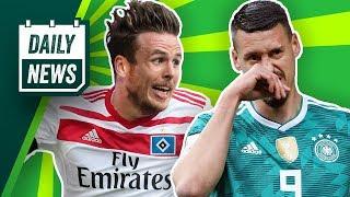 Wagner beendet Deutschland-Karriere! Müller zu Schalke? PSG: 322 Millionen für Neymar! Daily News