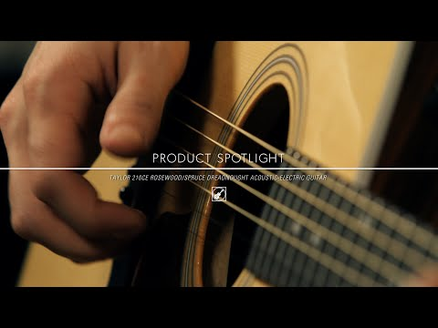 Product Spotlight - Taylor 210 CE Rosewood/Spruce Dreadnought Acoustic Electric Guitar