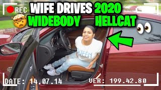 Wife drives 2020 Widebody HELLCAT !