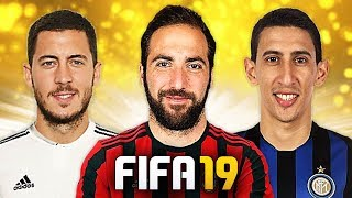 HIGUAIN AL MILAN, DI MARIA ALL'INTER!!! TOP 10 TRASFERIMENTI ASSURDI IN FIFA 19! [Hazard, Alisson]