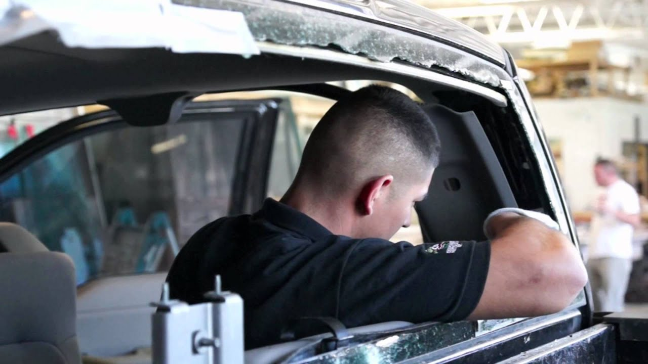 Action Glass and Mirror - Rear Window Install - YouTube
