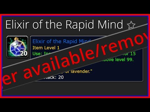 Winter Veil 2017: Elixir of Rapid Mind Removed? (WoW Gold Guide)