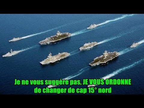 ► Marine américaine VS marine espagnole ! (échange radio hilarant & édifiant)