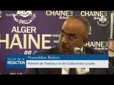 Noureddine Bedoui ministre de l'Intérieur, des Collectivités locales