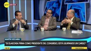 """Martín Vizcarra: """"Si Olaechea firma como presidente del Congreso, está usurpando un cargo"""""""