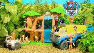 Щенячий Патруль на русском - Спасение Трэкера. Paw Patrol - Paw Terrain Vehicle. Monkey Tample.