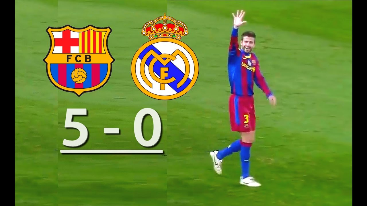 barcelona vs real madrid 5 0 youtube
