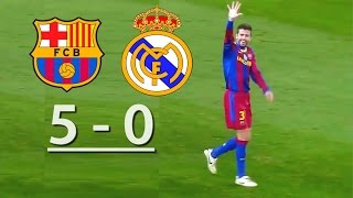Barcelona vs Real Madrid  5-0