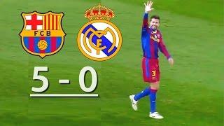 Barcelona Vs Real Madrid (5 0)