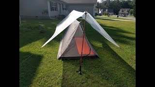 Lightweight 1.58 pound backpacking mesh tent
