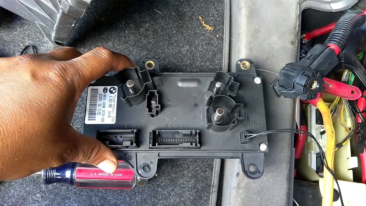 bmw 745i 2002 power control module replacement [ 1280 x 720 Pixel ]