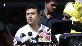Subhendu Adhikari (MP) - Press Conference at 3rd Adibasi Book Fair in Marshal Complex, Jhargram.flv