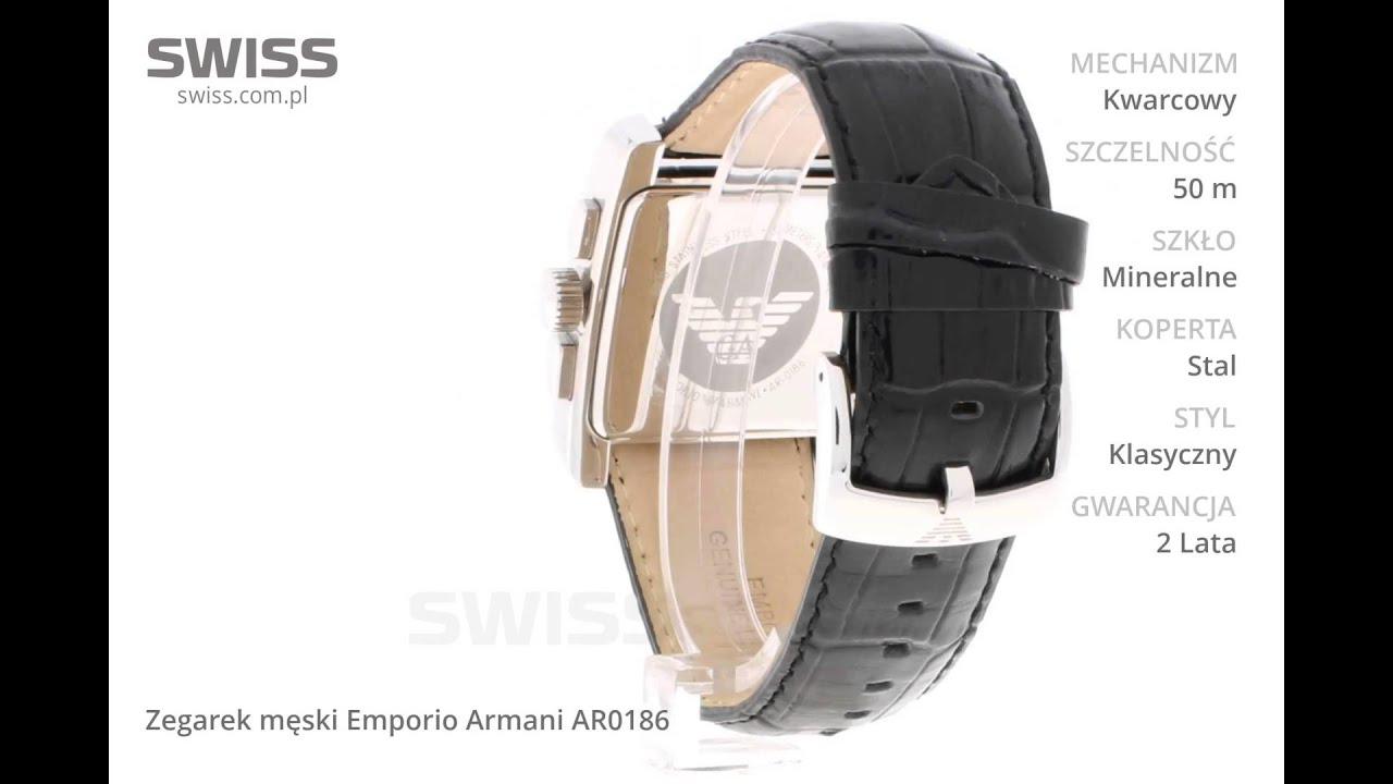 6de5a3a3100 www.swiss.com.pl - Zegarek męski Emporio Armani AR0186 - YouTube