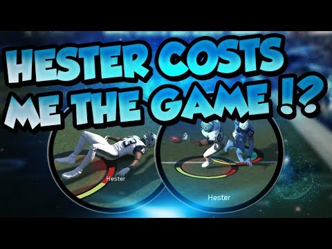 Madden 18 Ultimate Team :: Devin Hester Costs Me The Game?!?! :: Madden 18 Ultimate Team