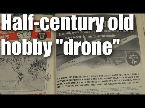 """50 year old foamie model airplane """"drone"""""""