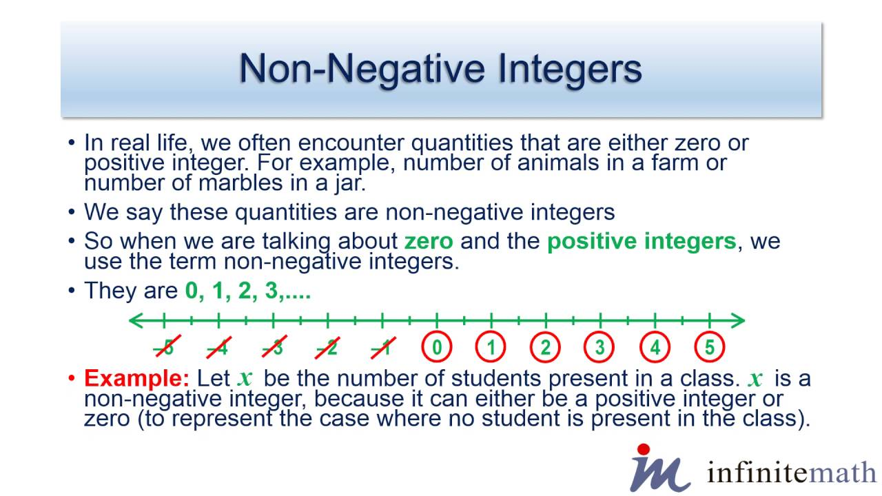 Non negative Integers | Infinite-Math.com - YouTube