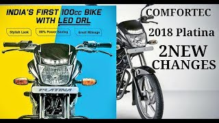 New 2018 Bajaj Platina Comfortec Led DRL Light & Meter Design OR Ceat Tyre