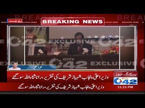 وزیراعلی پنجاب شہباز شریف کی تقریر، رانا ثناء اللہ سو گئے