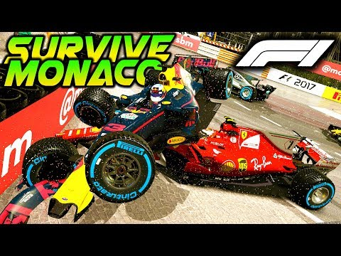SURVIVE MONACO AT NIGHT, IN HEAVY RAIN - Extreme Damage Mod F1 Game Keyboard Challenge