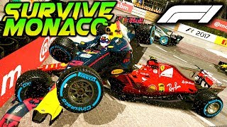 SURVIVE MONACO AT NIGHT, IN HEAVY RAIN - Extreme Damage Mod F1 Game Keyboard Challenge