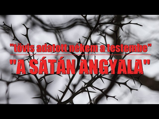 Tövis adatott nékem, a Sátán angyala
