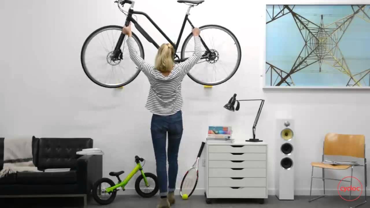 Bike Storage Cycloc Hero With A Biomega Bike Youtube