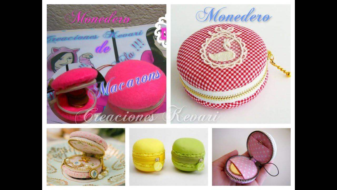 Macarons Monedero Kawaii DIY/Macaron Coin Purse Tutorial ...