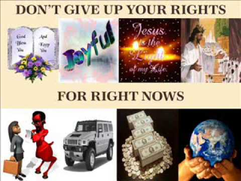 Don't Give Up Your Rights For Right Nows