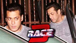 Salman Khan DUBS For RACE 3,  Spotted Outside Recording Studio