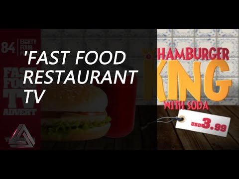 Fast Food Restaurant TV Commercial After Effects Template - After effects commercial template