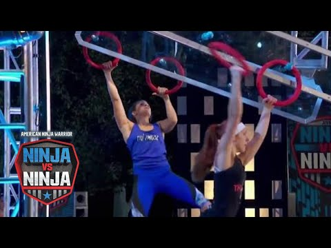 Jeri D'Aurelio Vs. Meghan Beatty (S1 E4) | American Ninja Warrior: Ninja Vs. Ninja