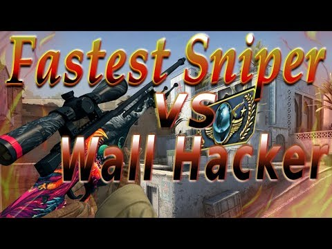 Fastest Sniper vs Wall Hacker GLOBAL GAME CS:GO
