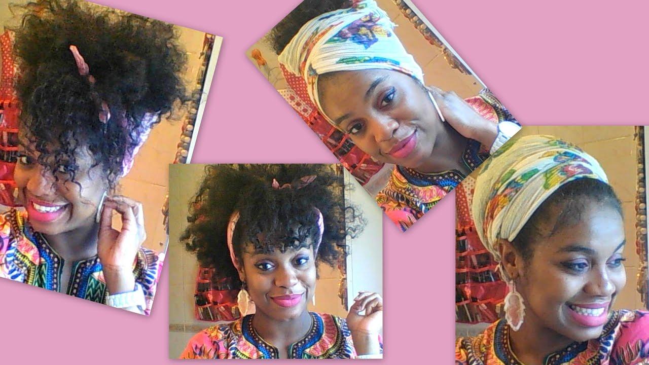 Coiffure avec foulard pour cheveux