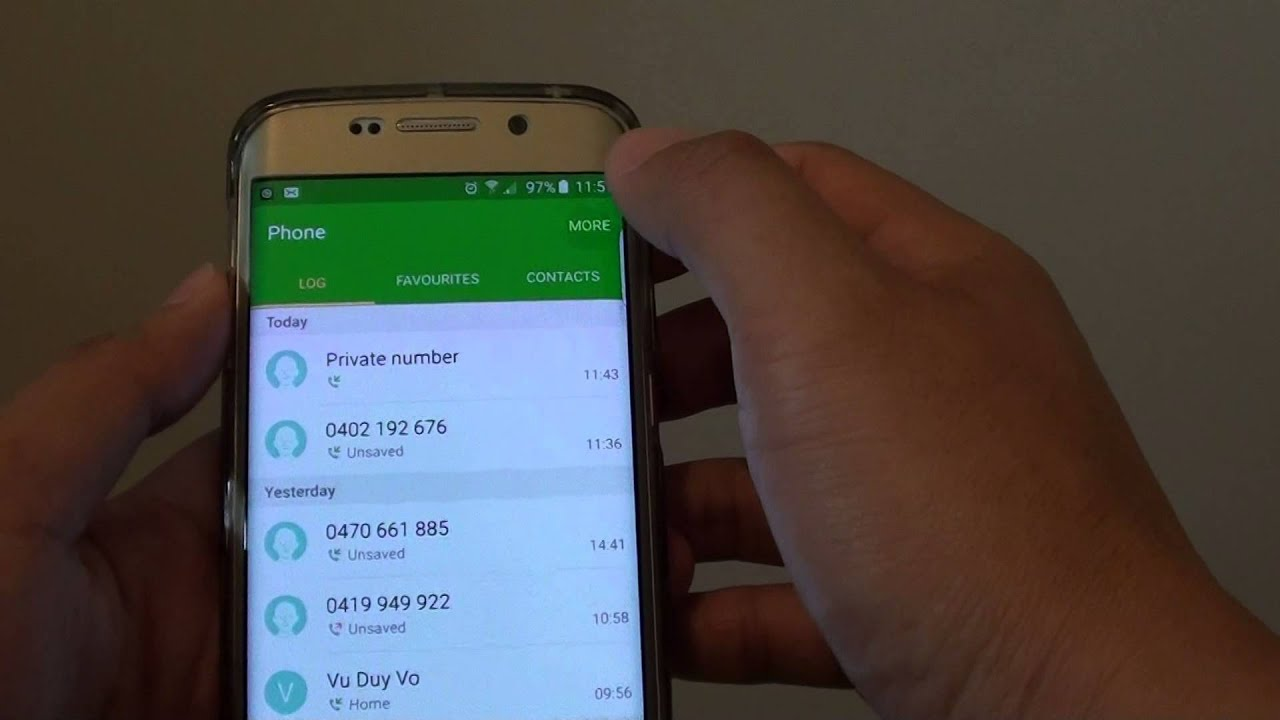 Samsung Galaxy S6 Edge How To Automatically Reject