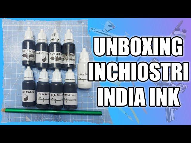 Unboxing India Ink - Kit di inchiostri per illustrazioni monocromatiche