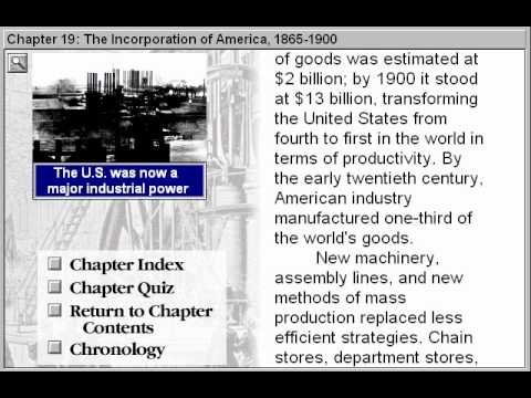 The Incorporation of America 1865-1900 (Discovering American History Part 19)