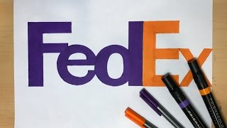 How to Draw the FedEx Logo | Logo Drawing