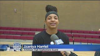 Jzaniya Harriel of Antelope High is the third Athlete of the Week f...
